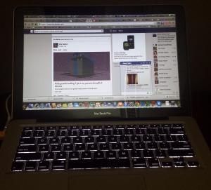 My distracting laptop